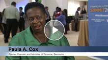 Paula Cox, Former Premier & Minister of Finance of Bermuda, Speaks at Financial Literacy Summit 2014